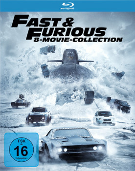 Fast & Furious - 8 Movie Collection [8 Discs]