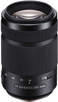 Sony 55-300 mm F4.5-5.6 DT SAM 62 mm Obiettivo (compatible con Sony A-mount) nero
