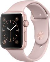 Apple Watch Series 2 42 mm - Boîtier aluminium or rose et bracelet sport rose des sables [Wi-Fi]