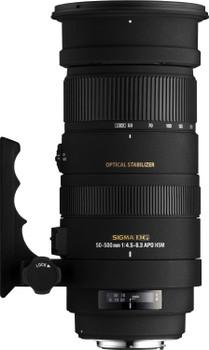 Sigma 50-500 mm F4.5-6.3 APO DG HSM OS 95 mm Objectif (adapté à Nikon F) noir