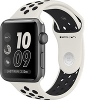 Apple Watch Nike+ Series 2 42mm Caja de aluminio en gris espacial con correa Nike Sport light bone black [Wifi, Limited NikeLab Edition]