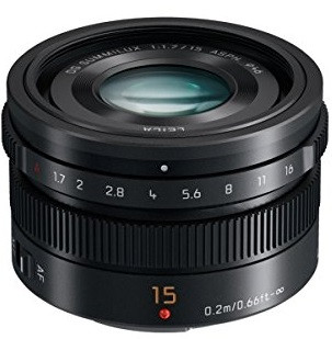 Panasonic Leica DG Summilux 15 mm F1.7 ASPH. 46 mm Objectif (adapté à Micro Four Thirds) noir