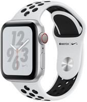 Apple Watch Nike+ Series 4 40mm caja de aluminio en plata y correa Nike Sport platino puro/negra [Wifi + Cellular]