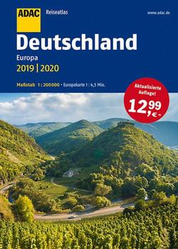ADAC Reiseatlas Deutschland, Europa 2019/2020 1:200 000 [Taschenbuch]