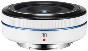 Samsung NX 30 mm F2.0 43 mm Objetivo (Montura Samsung NX) blanco