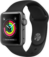 Apple Watch Series 3 38mm Caja de aluminio en gris espacial con correa deportiva negra [Wifi]