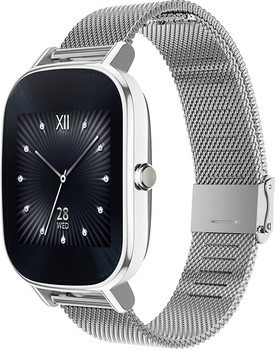 Asus ZenWatch 2 36,8mm argento con Loop in maglia milanese argento [Wifi]