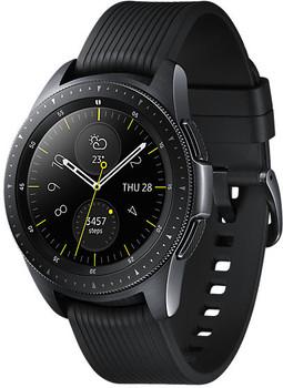 Samsung Galaxy Watch 42 mm nero am Cinghia in silicone nero [Wi-Fi]