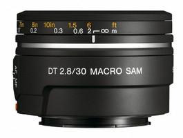 Sony 30 mm F2.8 DT SAM Macro 49 mm filter (geschikt voor Sony A-mount) zwart