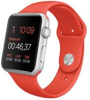 Apple Watch Sport 42mm plata con correa deportiva naranja [Wifi]