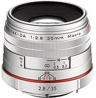 Pentax HD DA 35 mm F2.8 Macro 49 mm filter (geschikt voor Pentax K) zilver [Beperkte editie]