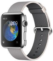 Apple Watch Sport 42 mm zilver met bandje van geweven nylon parelgrijs [wifi]