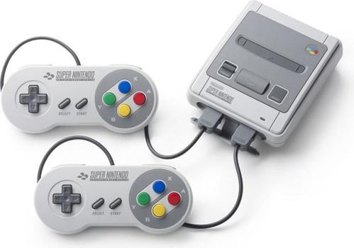 Nintendo Classic Mini: Super Nintendo Entertainment System [incl. 2 manettes] gris