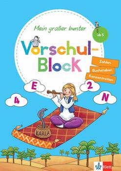 Klett Mein großer bunter Vorschul-Block. ab 5 Jahren, Zahlen, Buchstaben, Konzentration [Taschenbuch]