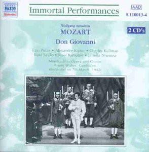 Pinza/Kipnis/Kullman/Sayao/und Andere - Mozart: Don Giovanni (Gesamtaufnahme) (Live) (Aufnahme 07.03.1942)