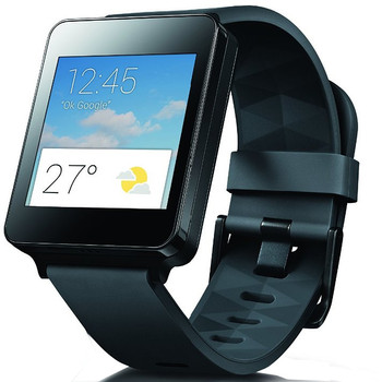 LG G Watch 42 mm zwart met een silicone bandje zwart