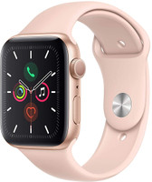 Apple Watch Series 5 44 mm Aluminiumgehäuse gold am Sportarmband sandrosa [Wi-Fi]