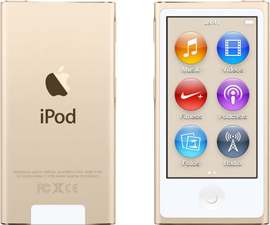 Apple iPod nano 7G 16GB goud [2015]