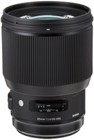 Sigma A 85 mm F1.4 DG HSM 86 mm Objetivo (Montura Canon EF) negro