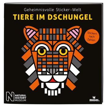 Geheimnisvolle Sticker-Welt: Tiere im Dschungel. Stickern nach Zahlen - Carola von Kessel  [Taschenbuch]