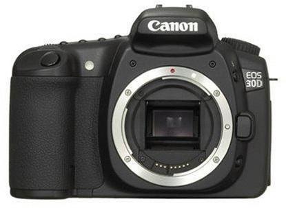 Canon EOS 30D zwart