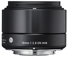 Sigma A 19 mm F2.8 DN 46 mm filter (geschikt voor Sony E-mount) zwart