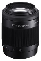 Sony 55-200 mm F4.0-5.6 DT SAM 55 mm Objetivo (Montura Sony A-mount) negro