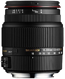 Sigma 18-200 mm F3.5-6.3 DC HSM OS II 62 mm Obiettivo (compatible con Canon EF) nero