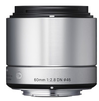 Sigma A 60 mm F2.8 DN 46 mm Objetivo (Montura Sony-E-mount) plata