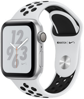 Apple Watch Nike+ Series 4 40mm caja de aluminio en plata y correa Nike Sport platino puro/negra [Wifi]