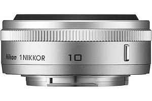 Nikon 1 NIKKOR 10 mm F2.8 40,5 mm Objetivo (Montura Nikon 1) plata