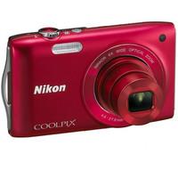 Nikon COOLPIX S3200 rood