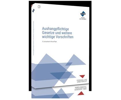 Aushangpflichtige Gesetze und weitere wichtige Vorschriften - Forum Verlag Herkert GmbH  [Taschenbuch]
