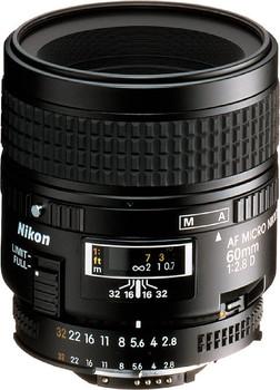Nikon AF NIKKOR 60 mm F2.8 D 62 mm Obiettivo (compatible con Nikon F) nero