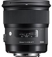 Sigma A 24 mm F1.4 DG HSM 77 mm Objectif (adapté à Canon EF) noir