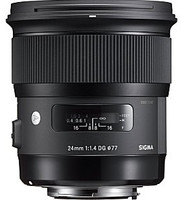 Sigma A 24 mm F1.4 DG HSM 77 mm filter (geschikt voor Canon EF) zwart