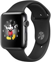 Apple Watch Series 2 42mm cassa in acciaio inossidabile nero siderale con cinturino Sport nero [Wifi]