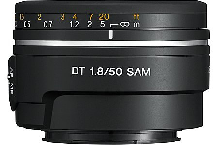 Sony 50 mm F1.8 DT SAM 49 mm Obiettivo (compatible con Sony A-mount) nero