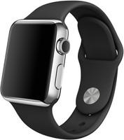Apple Watch 38mm bracelet sport gris/noir [Wi-Fi]