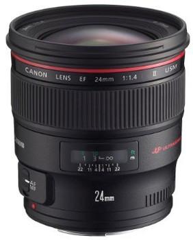 Canon EF 24 mm F1.4 L USM II 77 mm Objectif (adapté à Canon EF) noir