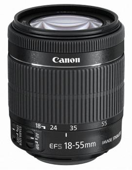 Canon EF-S 18-55 mm F3.5-5.6 IS STM 58 mm Obiettivo (compatible con Canon EF-S) nero