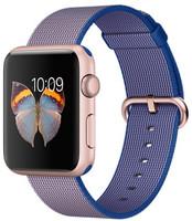 Apple Watch Sport 42 mm roségoud met bandje van geweven nylon koningsblauw [wifi]