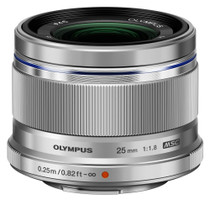 Olympus 25 mm F1.8 46 mm Objetivo (Montura Micro Four Thirds) plata