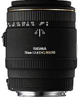Sigma 70 mm F2.8 DG EX Macro 62 mm Objetivo (Montura Sigma SA) negro