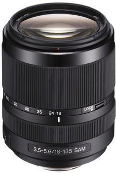 Sony 18- 135 mm F3.5-5.6 DT SAM 62 mm Objectif (adapté à Sony A-mount) noir