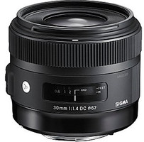 Sigma A 30 mm F1.4 DC HSM 62 mm filter (geschikt voor Nikon F) zwart