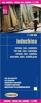 Reise Know-How Landkarte Indochina (1:1.200.000) : Vietnam, Laos, Kambodscha: world mapping project - Verlag, Peter Rump