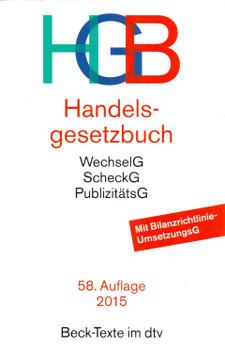 HGB: Handelsgesetzbuch - Wolfgang Hefermehl [Broschiert, 58. Auflage 2015]
