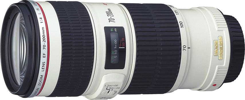 Canon EF 70-200 mm F4.0 IS L USM 67 mm Filtergewinde (Canon EF Anschluss) weiß