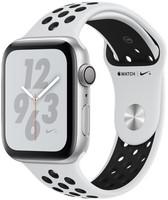 Apple Watch Nike+ Series 4 44 mm aluminium zilver met Nike sportarmbandje [wifi] platinumzwart